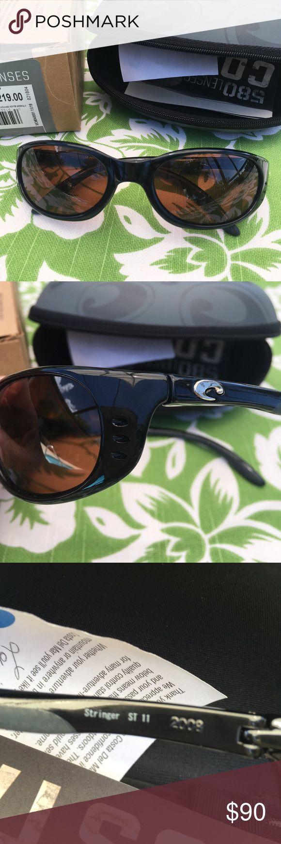 Costa Del Mar Stringer black copper 580 glass pola Costa Del Mar Stringer black copper 580 glass polarized NIB Costa Del Mar Accessories Sunglasses