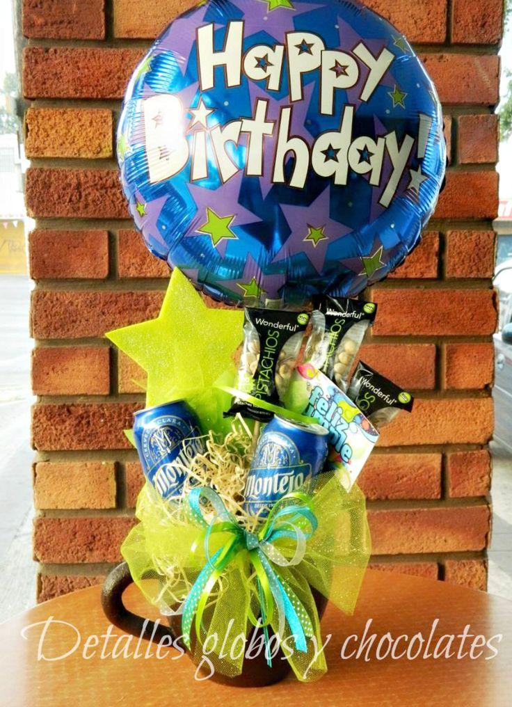 """Taza """"Detalles globos y chocolates"""""""