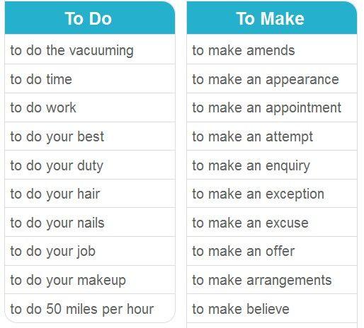 To do & To make 3