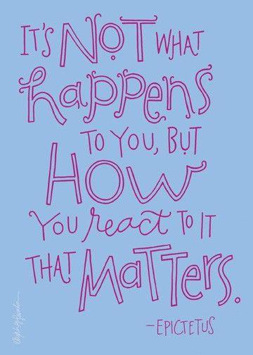 It's not what happens...