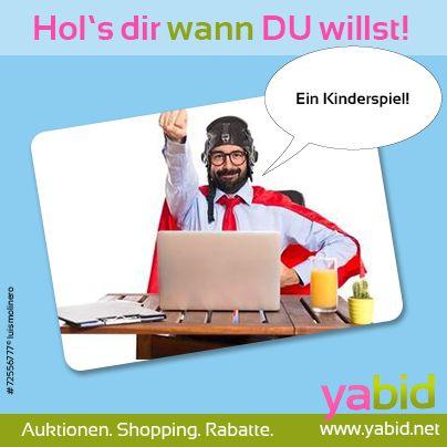 Auf und davon! Reiß' dir die besten #Deals bei #Yabid unter den Nagel und fühl' dich einfach #heldenhaft! Hol's dir wann DU willst! www.yabid.net