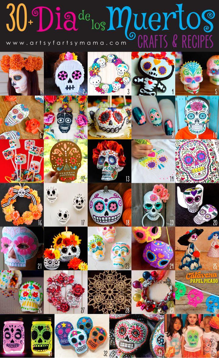 30+ Dia de los Muertos Crafts & Recipes at artsyfartsymama.com