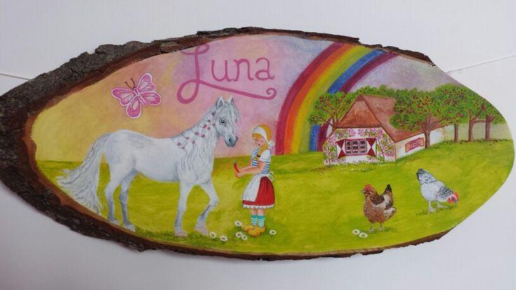 Naamschilderij Luna