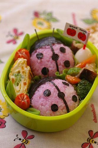 Ladybug Kyaraben Bento Lunch