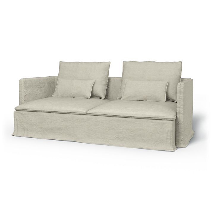 Covers for Ikea sofas Söderhamn, Sofa Covers, 3 Seater, Loose Fit Urban using the fabric Brera Lino Natural