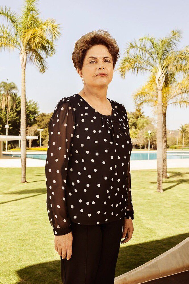 Dilma Rousseff photographed at Alvorada Palace in Brasilia, Brazil on July 22, 2016. Luisa Dörr—VII Mentor Program for TIME