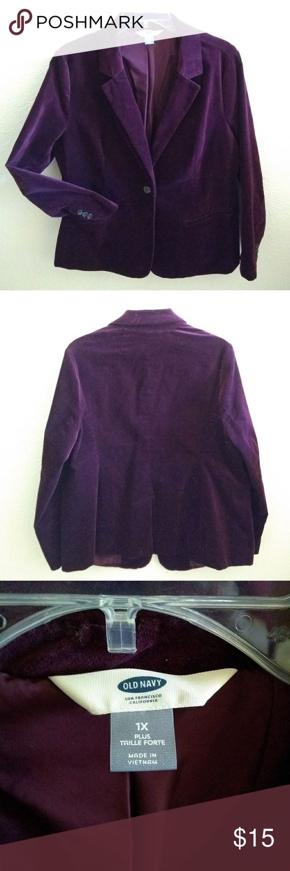 Spotted while shopping on Poshmark: Old Navy Velvet Plum Fitted Blazer! #poshmark #fashion #shopping #style #Old Navy #Jackets & Blazers