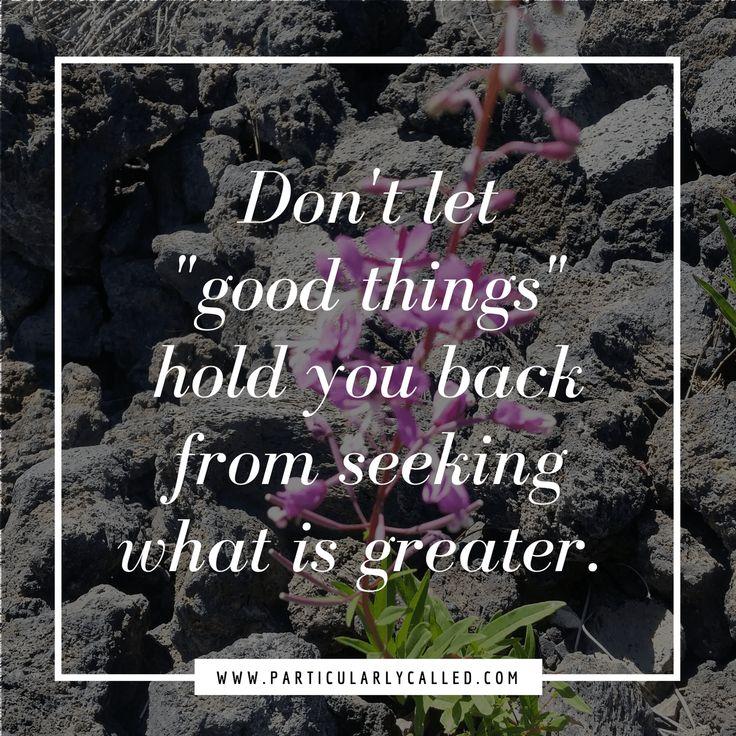 seeking God - priorities - quote
