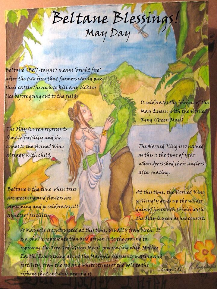 Beltaine:  #Beltane Blessings (May Day).