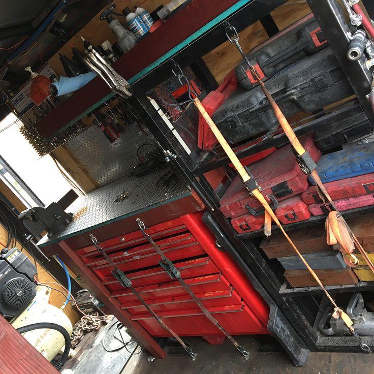 Love my shop on wheels!  Swipe to see all - - - - - #garage #mechanic #welding #tools #storage #fabrication #shop #mobile #roadside #toolbox #trailer #fieldmechanic #shelves #wood #steel #aluminum #toolsofthetrade #oxyacetylene #torch #generator #parts #bluecollar #broken #fix #latenight #earlymornings