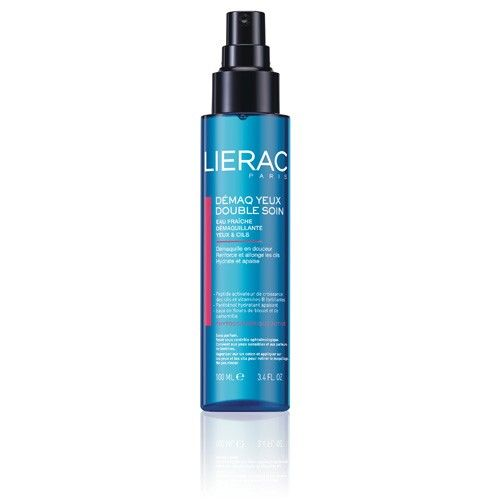 Eye Make-Up Remover, Gently removes makeup and growth activating peptides and biotin lengthen and fortify lashes. Lierac $24