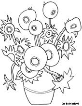 VAN GOGH SUNFLOERS colouring pages