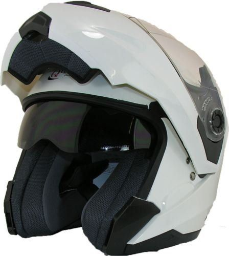 MOTORCYCLE Modular Flip up Front Helmet DOUBLE Visor Motorbike Closed Face WHITE - SMALL 55-56cm: Amazon.co.uk: Car & Motorbike  £39.95