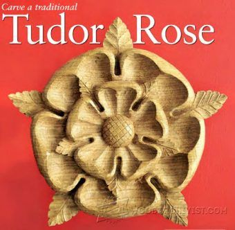 Carving Tudor Rose Gothiс Mirror - Wood Carving Patterns and Techniques | WoodArchivist.com