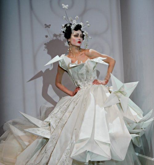 2007 john galliano 39 s origami dress to astound pinterest for John galliano wedding dress