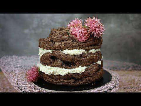 Chocolate cake with vanilla buttercream   Karpatka w innym wydaniu, czyli czekoladowy torcik karpatkowy - ORCHIDELI - LOVE BEAUTY