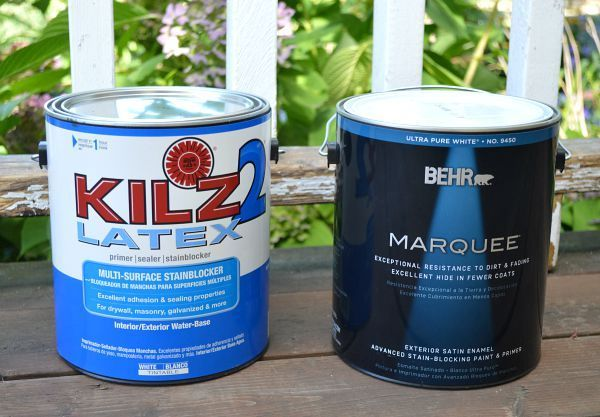 BEHR Marquee exterior paint and Kilz primer