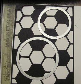 Soccer Ball card using the Hexagon Hive Thinlits die