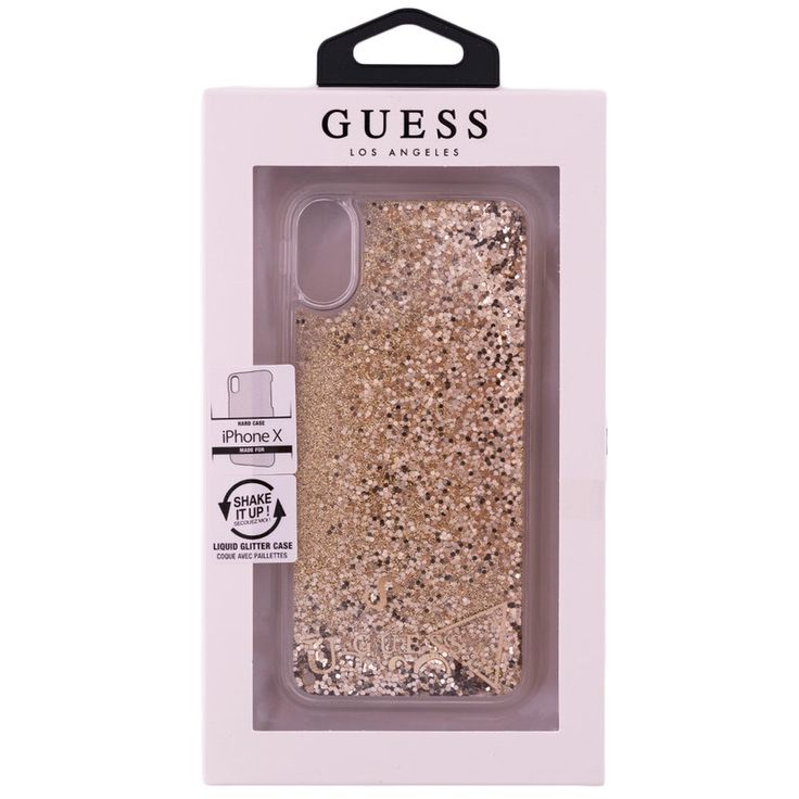 Bumper iPhone X, iPhone 10 Guess Liquid Glitter- Gold GUHCPXGLUFLGO