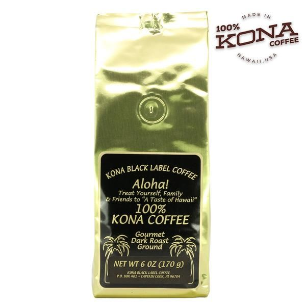 Enjoy a smooth, well balanced, fresh cup of coffee with our 100% Kona Dark Roast ground coffee. Sustainably grown and harvested on the Big Island of Hawaii, our 100% Kona coffee is handcrafted in small batches and part of the Black Label Kona Coffee brand. https://www.snackhawaii.com/
