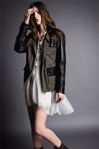 military and leather mixed with pretty