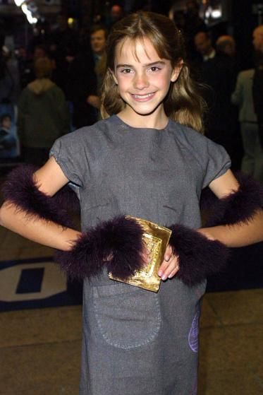 Emma Watson arrives at the premiere of <i>Harry Potter and the Sorcerer's Stone</i> in 2001 in London.