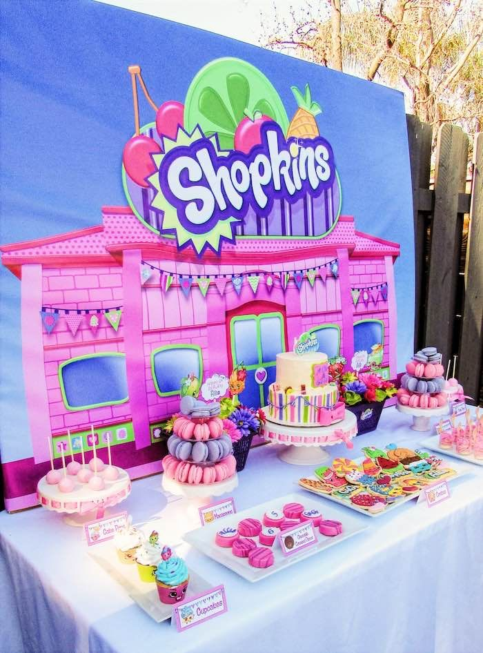 Dessert Table from a Shopkins Birthday Party via Kara's Party Ideas | KarasPartyIdeas.com (14)