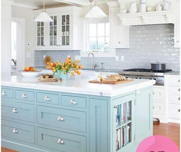Renovierungsideen Kücheninsel Streichen