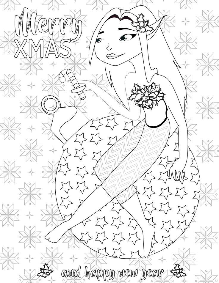 image elfe du père noel à imprimer gratuit