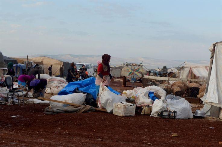 الوضع في المخيمات سيئ وهناك نقص في مواد التدفئة