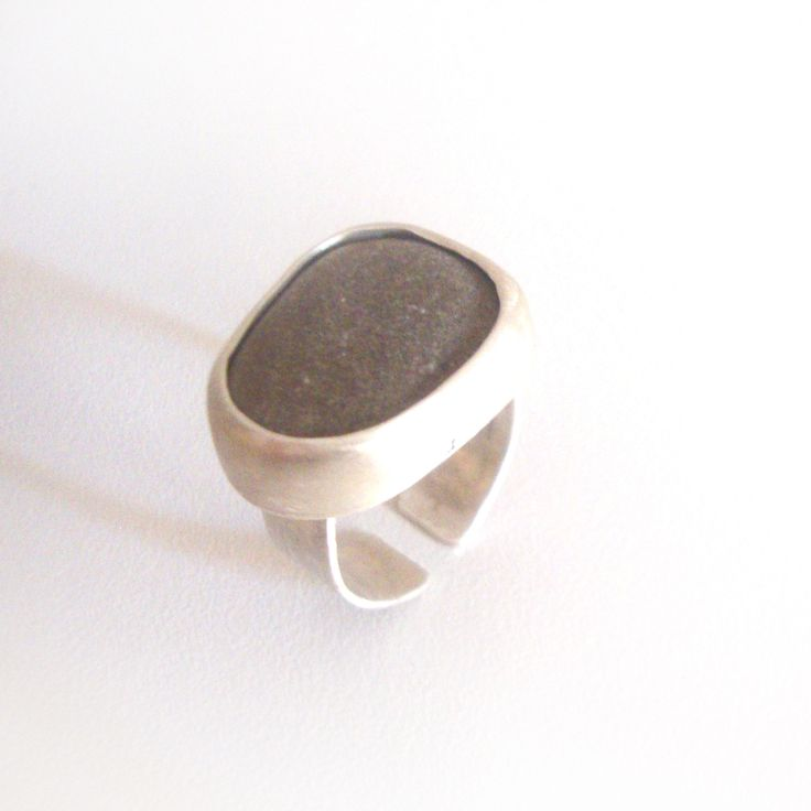 Silver ring with Sea stone