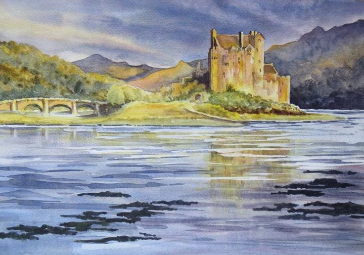 January 2016 Challenge Winner - Eileen Donan Castle by member Gill Farquharson. We think the detail in the water is great and wonderful colours created in the sky.