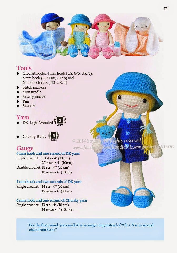 Amigurumi crochet patterns ~ K and J Dolls / K and J Publishing – Lots and Lots …