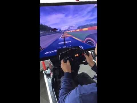 Formula RaceRoom 2 first rollout on Spa - YouTube