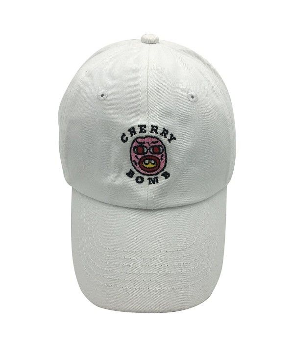 fca82a3a13222 Golf Cherry Bomb Dad Hat Baseball Cap 3D Embroidery Adjustable Snapback  White CC1850H66RD - Hats