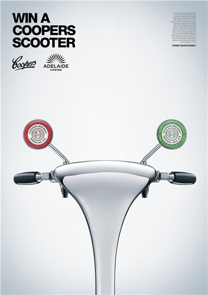 Bronze - Creative Design, Coopers Scooter, Coopers Brewery, Showpony