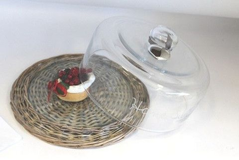 Willow Glass Cheese Cloche