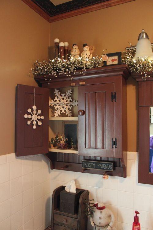 Weihnachten Badezimmer Dekor Ideen #advent #grau ...