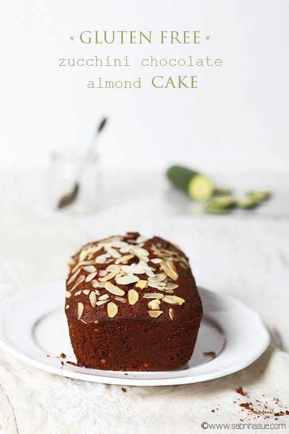 gluten free - zucchini chocolate almond cake - sabrina sue