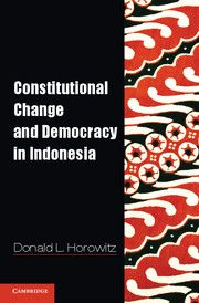 Donald Horowitz's 2013 book looks at the process of constitution-making in democratic Indonesia, including the role of the presidency