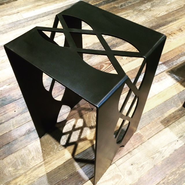custom metal table by chad martin steel pinterest. Black Bedroom Furniture Sets. Home Design Ideas