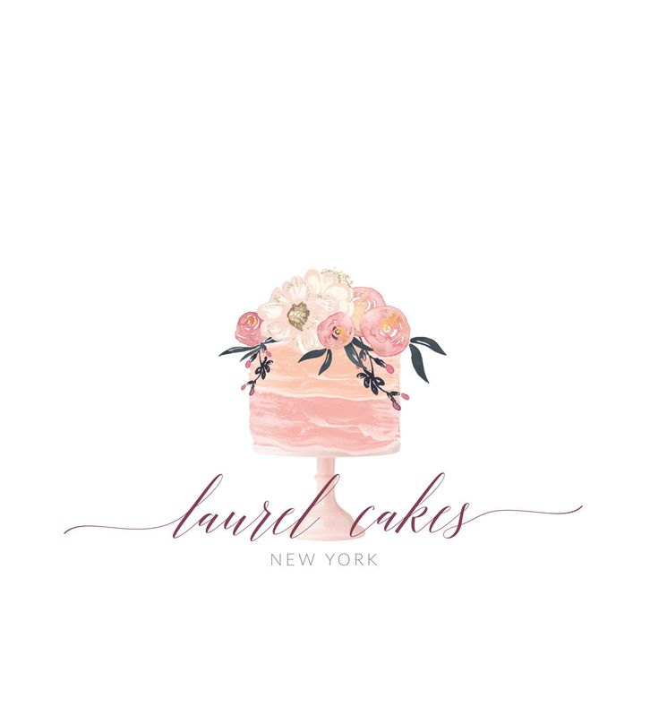 Premade Logo, Graphic Design, Business Logo, Logo Design, Watercolor Logo, Bakery Logo by TheBlushingElm on Etsy
