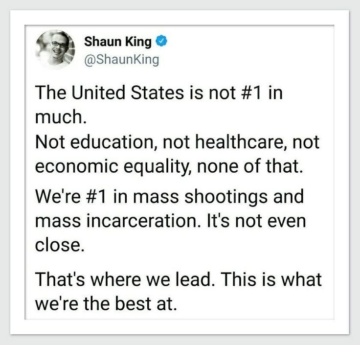 America IS number 1. But not at anything any other country wants to be first in... god no, being the polar opposite of the USA leads to a better outcome for the populace, though not for rich bastards, they do best in the USA and Saudi Arabia and Russia, go figure.