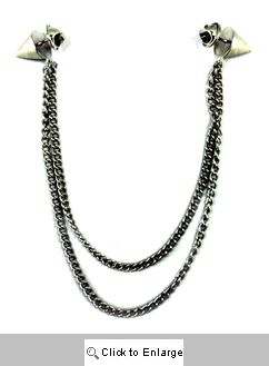 Spike Detachable Collar Necklace - Silver