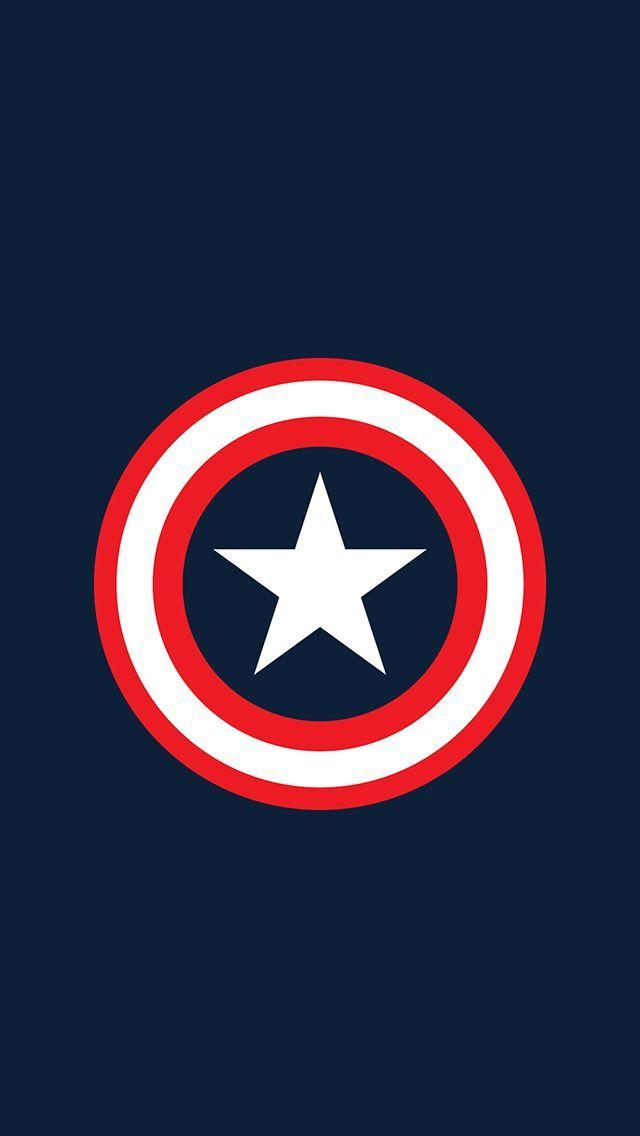 Captain America Logo iPhone 6 Wallpaper. Beautiful Wallpaper for iPhone 6! #Capt...