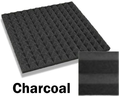 48 Pack of (12 X 12 X 1)inch Acoustical Pyramid Foam Panel for Soundproofing Studio
