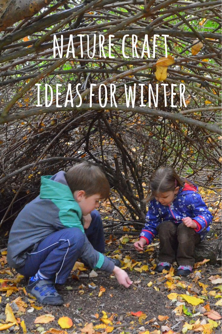 Nature craft is a perfect way to get kids outdoor in Winter.  Lots of ideas here for Winter nature crafts which are simple, fun and give great results.