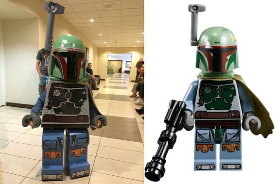 The Greatest Lego Cosplay ever. The Lego original is on the right, by the way...