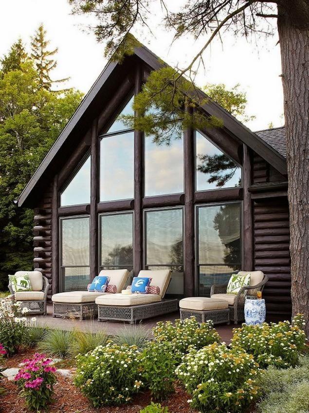 Glass, wood and greenery