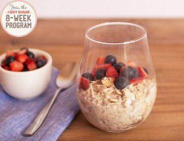 IQS 8-Week Program - Coconut and Almond Overnight Oats. I love something I can prepare the night before to eat on-the-go the next morning.